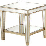 house hampton paulornette mirrored end table with tray reviews leather sofa genuine antique square inch console distressed round pedestal dining tall black coffee leons king 150x150