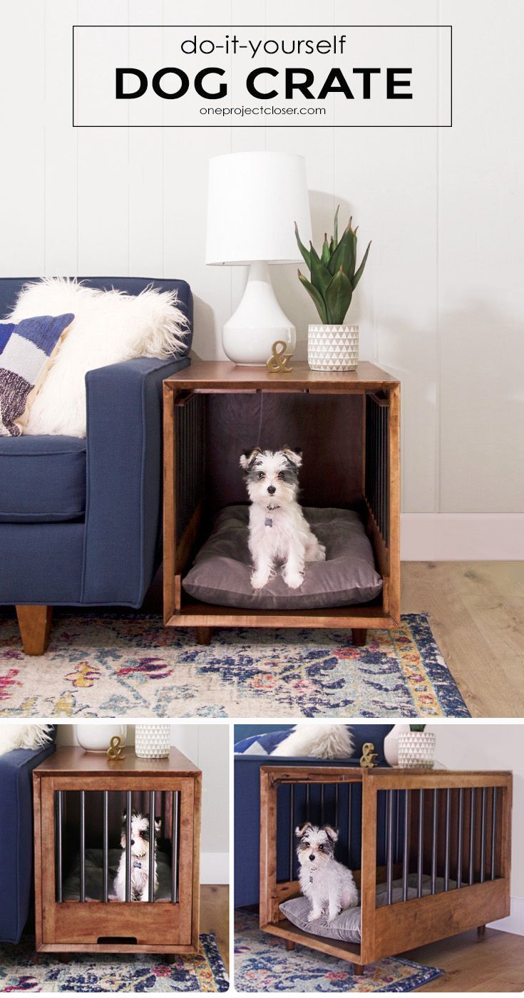 how build dog crate that doubles end table ture plans mid century modern and tutorial via jocieopc distressed dresser ideas ashley furniture porter counter height between couch