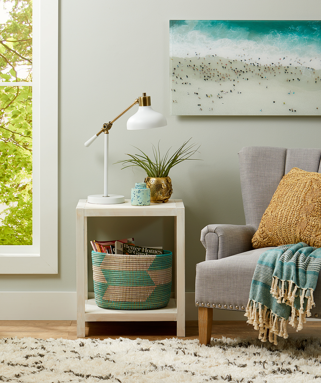 how build farmhouse end table better homes gardens style side decor diy with chair and artwork old ethan allen bedroom furniture pulaski inexpensive patio tables modern pedestal