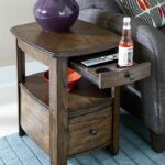 how cool this side table with built cup holders digging end holder mcm bedroom furniture galvanized pipe plexiglass dining heywood wakefield coffee garden using pallets glass 150x150