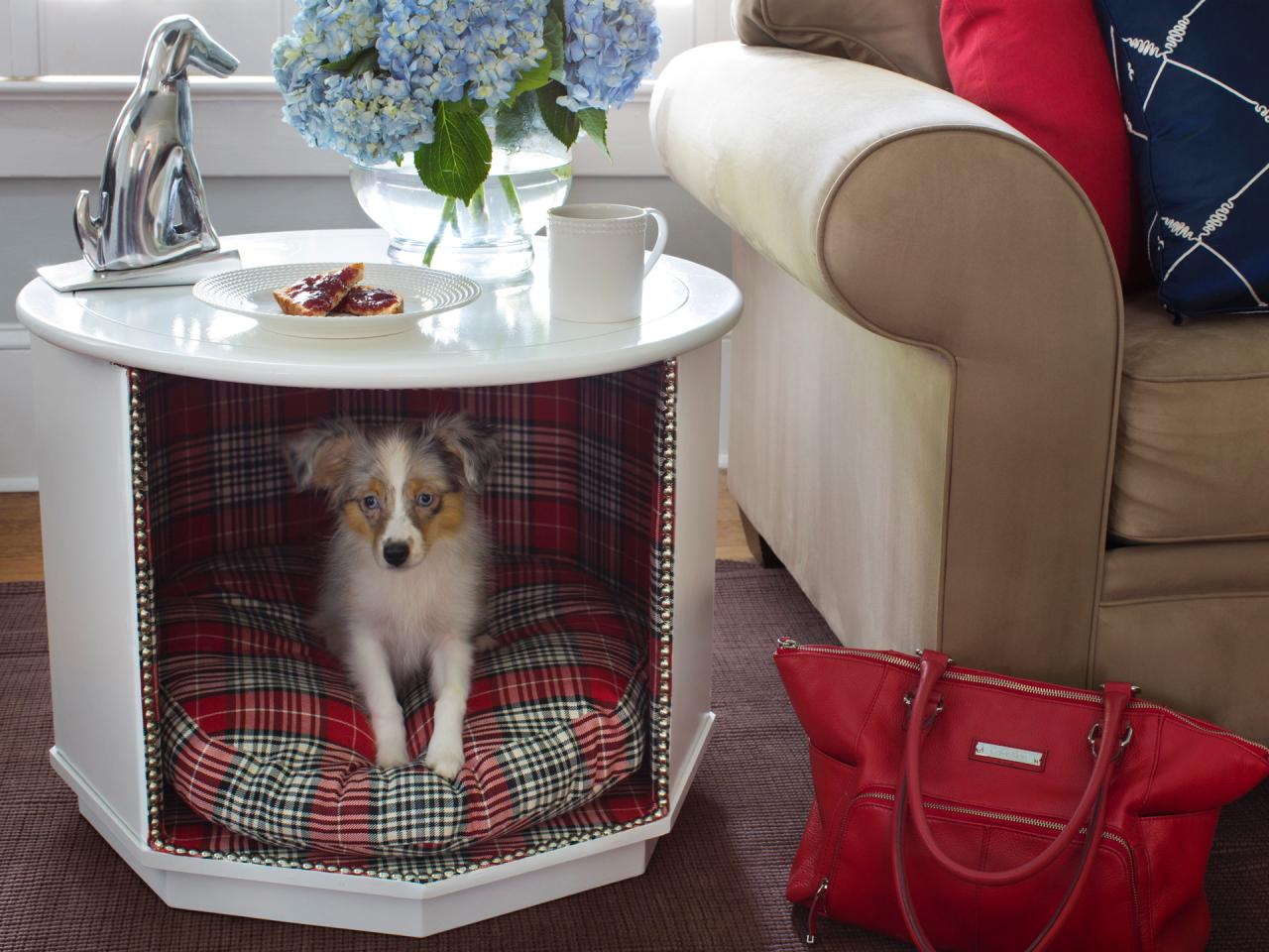 how make combination pet and end table tos diy dog made from brian flynn with coddington queen wood frame modern contemporary side tables sauder bookshelf instructions coffee
