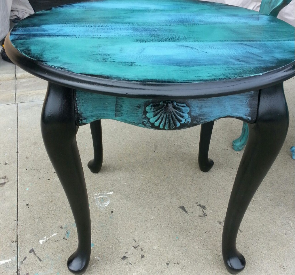 how paint table and make distressed end house design blue look tables brown sofa set ideas antique french black high gloss console pulaski sauder furniture manchester free large