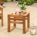 hudson wood patio end table with glass top pier outdoor thank you ethan allen bench gabberts bedroom furniture plastic nic tables lazy boy regina bath toys kmart refinishing 150x150