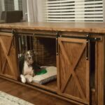 incredible dog crate that look like furniture pet wooden wood end diy build house are can escape from indestructible grow with your table open the side change size elegant lauren 150x150