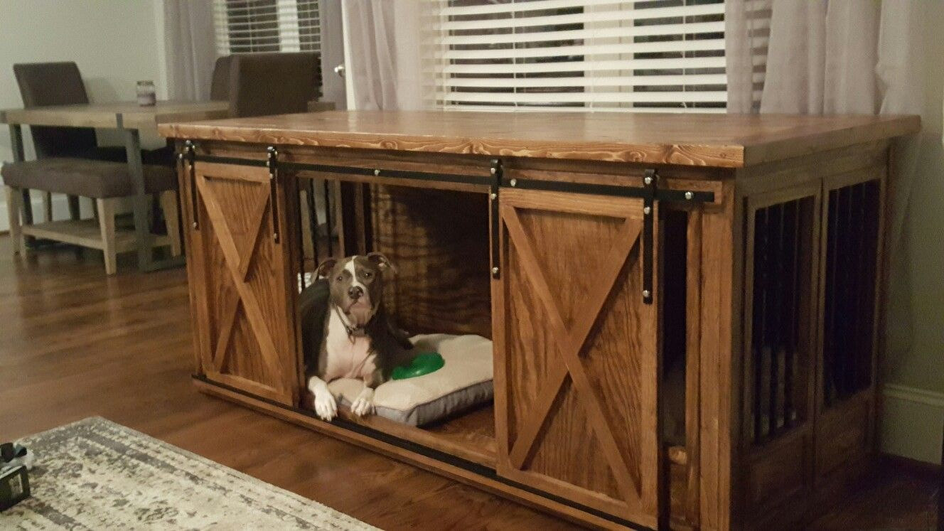 incredible dog crate that look like furniture pet wooden wood end diy build house are can escape from indestructible grow with your table open the side change size elegant lauren