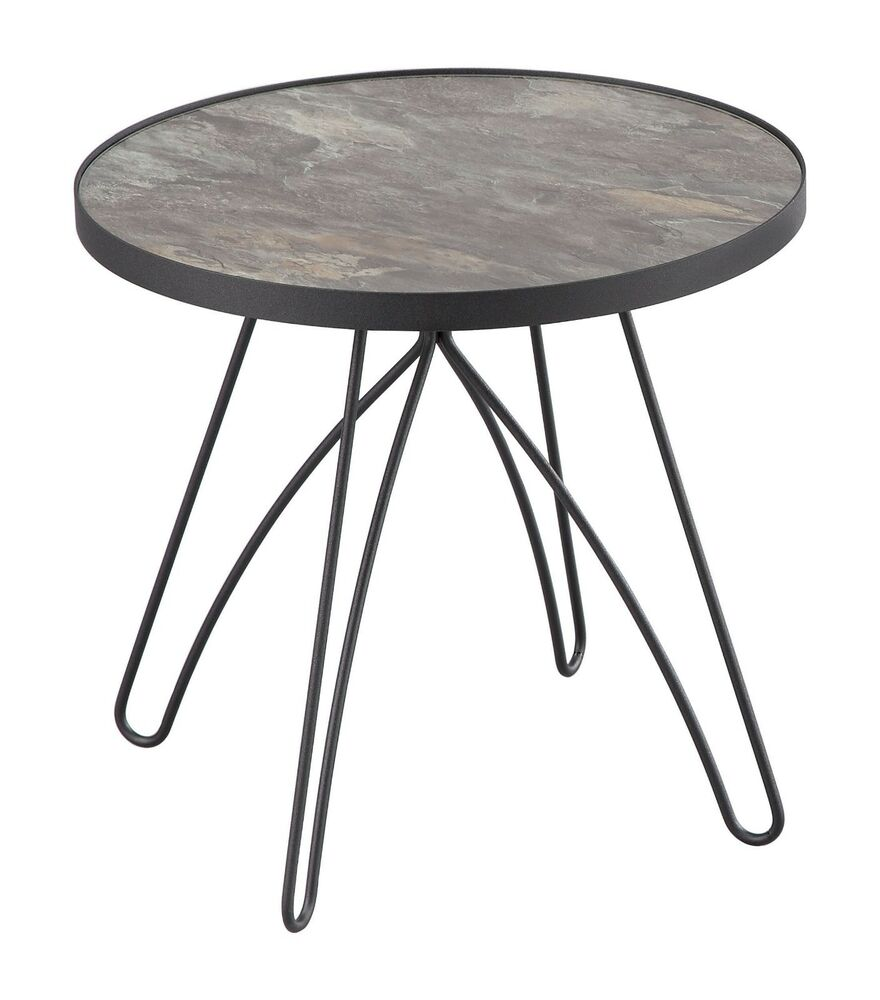ines side end table marble glass top black metal base with details about oval shape small kitchen wolf appliances used mirrored nightstand clothes drawers kmart oak coffee set