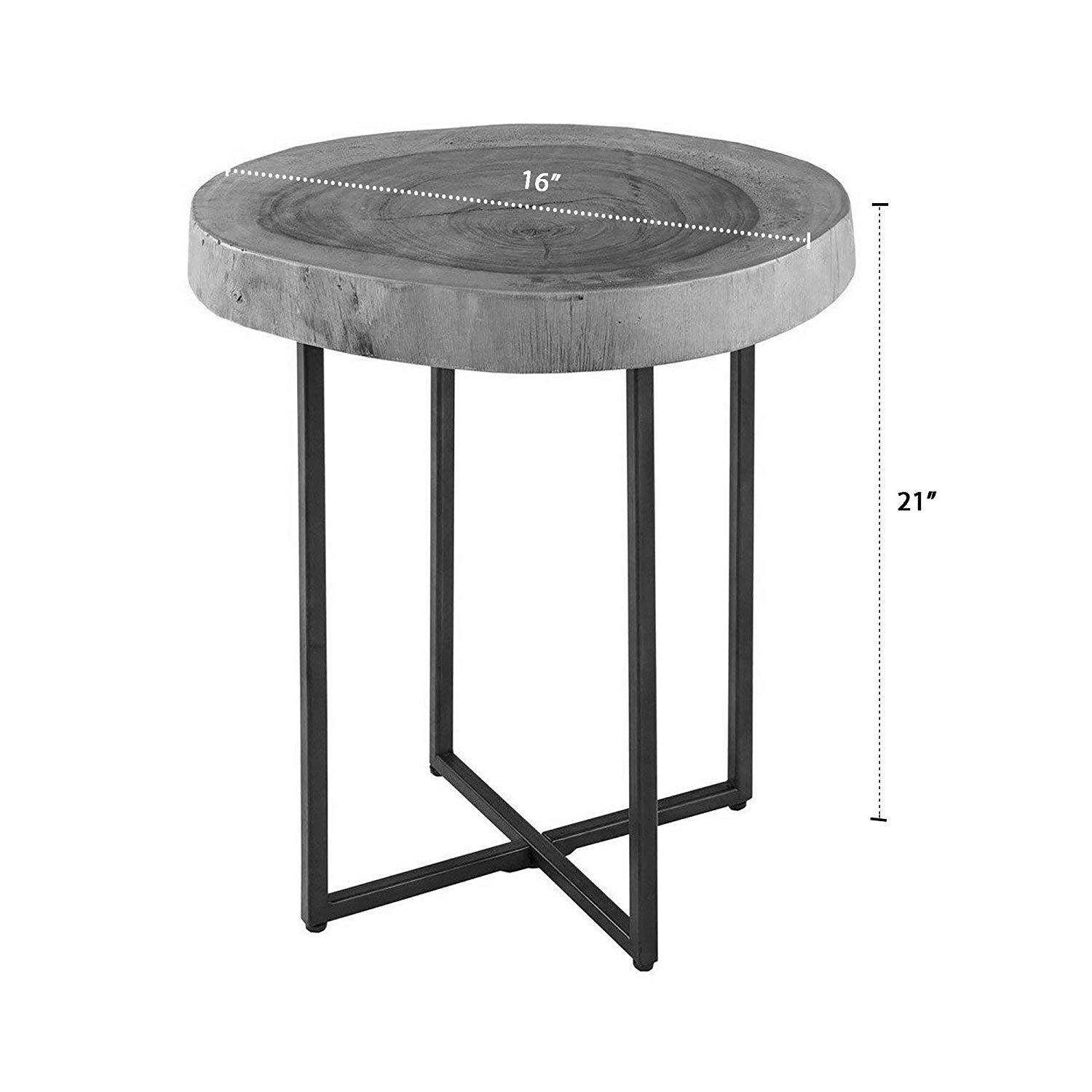 ink ivy arcadia accent tables metal wood side table small black end natural matt modern style piece authentic block for living leons dining sets brown glass top coffee mexican