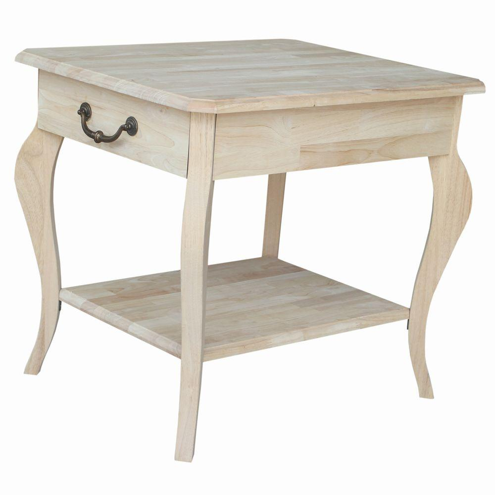 international concepts cambria unfinished end table the wood tables furniture best coffee under bare pine riverside console mirrored with drawers wickham oak dining reviews
