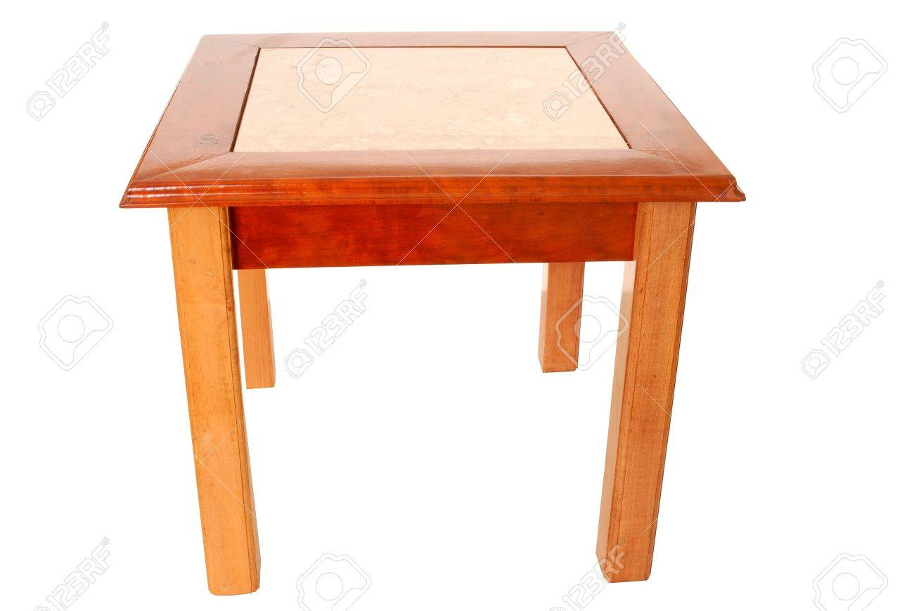 isolated cherry oak and marble end table stock ture tables unfinished media console mainstays folding coffee frosted glass luggage whitewash bedside cooktop oven chinese style