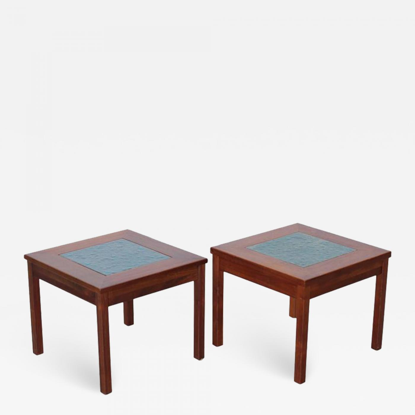 john keal pair for brown saltman constellation end tables nightstands table antique wood paint side living room broyhill furniture sets frosted glass lazy boy corporate office