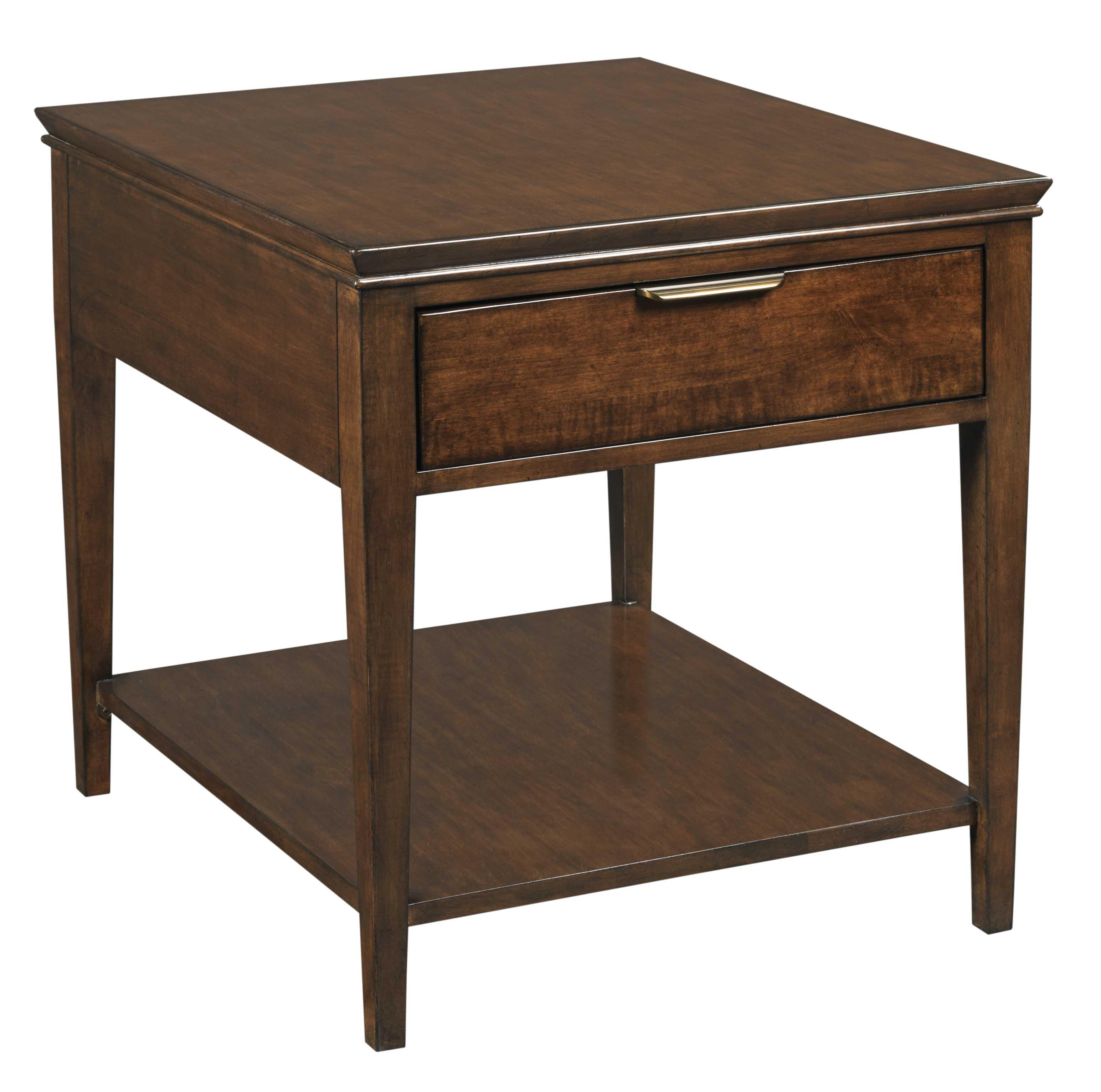 kincaid furniture elise transitional end table with one drawer products color tables ethan allen area rugs ashley free shipping coupon round patio dining for noguchi coffee
