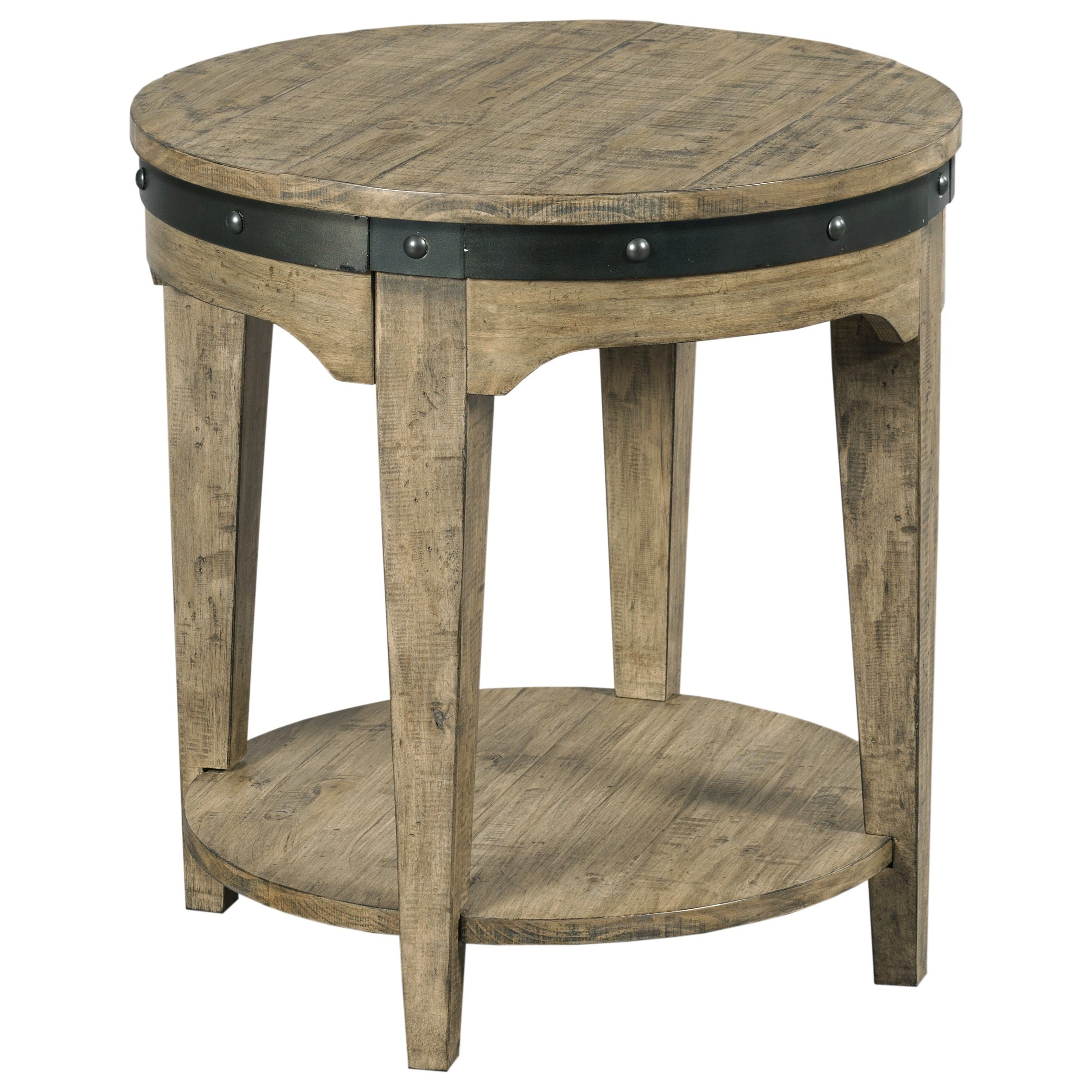 kincaid furniture plank road artisans round solid wood end table products color tables coffee dog cocktail calgary modern side ikea glass desk top replacement tool boxes large