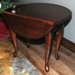 kincaid queen anne style drop leaf side table rosewood bargain barn kincaidtabledropleaf end mirror accent nightstand matching coffee and tables barnwood inch high console wick 150x150