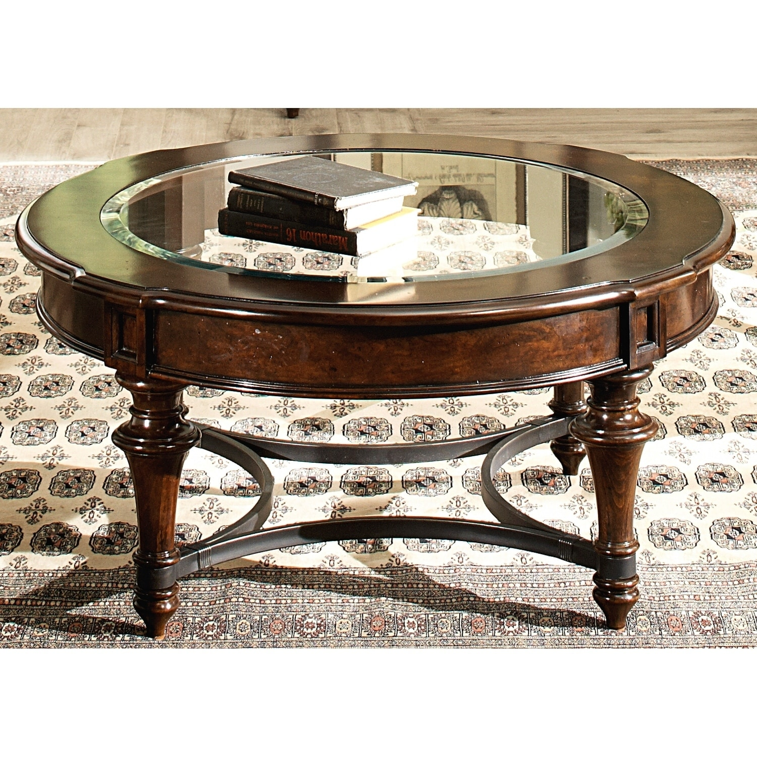 kingston plantation cognac glass insert round cocktail table end with free shipping today top furniture stickley rugs ashley kids bedroom sets sofa tures tables behind couches