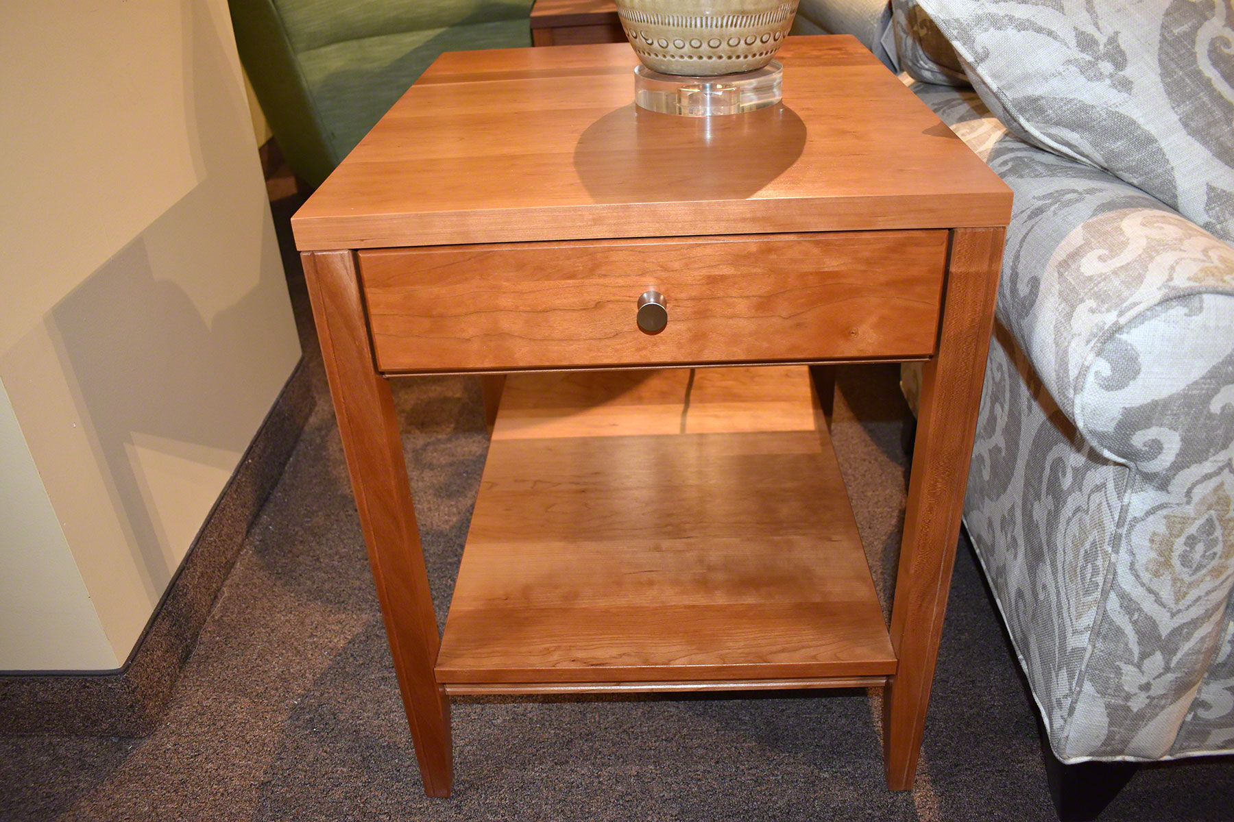 kingston small end table fly night northampton natural cherry bedside grey wash vanity lights painted oak and chairs north shore office furniture thomasville spray painting old