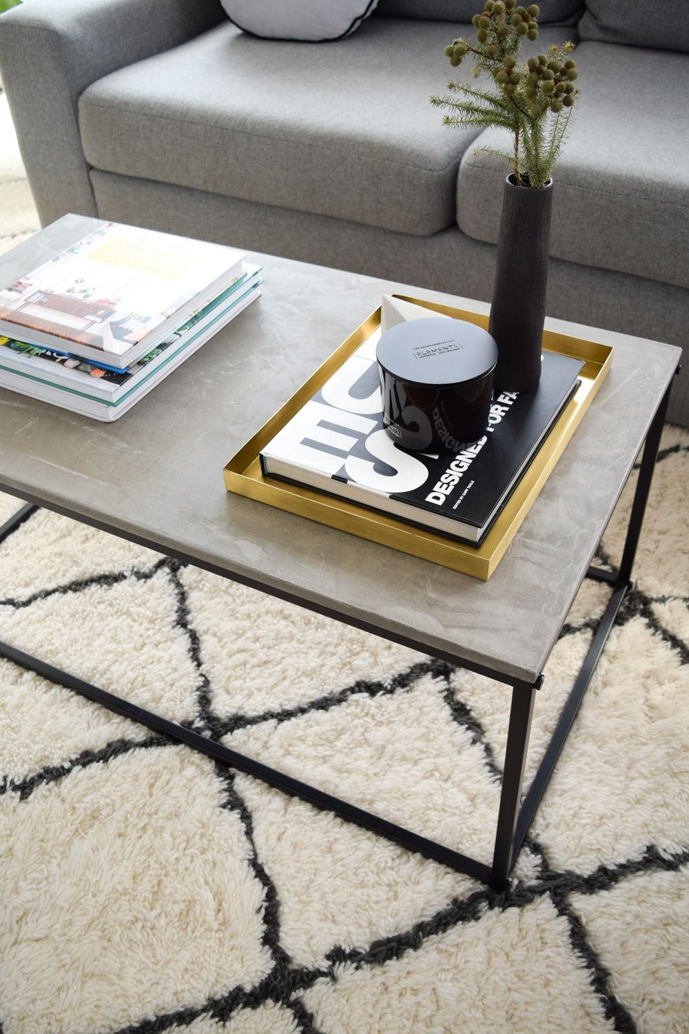 kmart hack coffee table veneer luxe concrete top furniture end tables industrial raw wood kitchen round seagrass small sitting room unfinished sofa black telephone vintage folding
