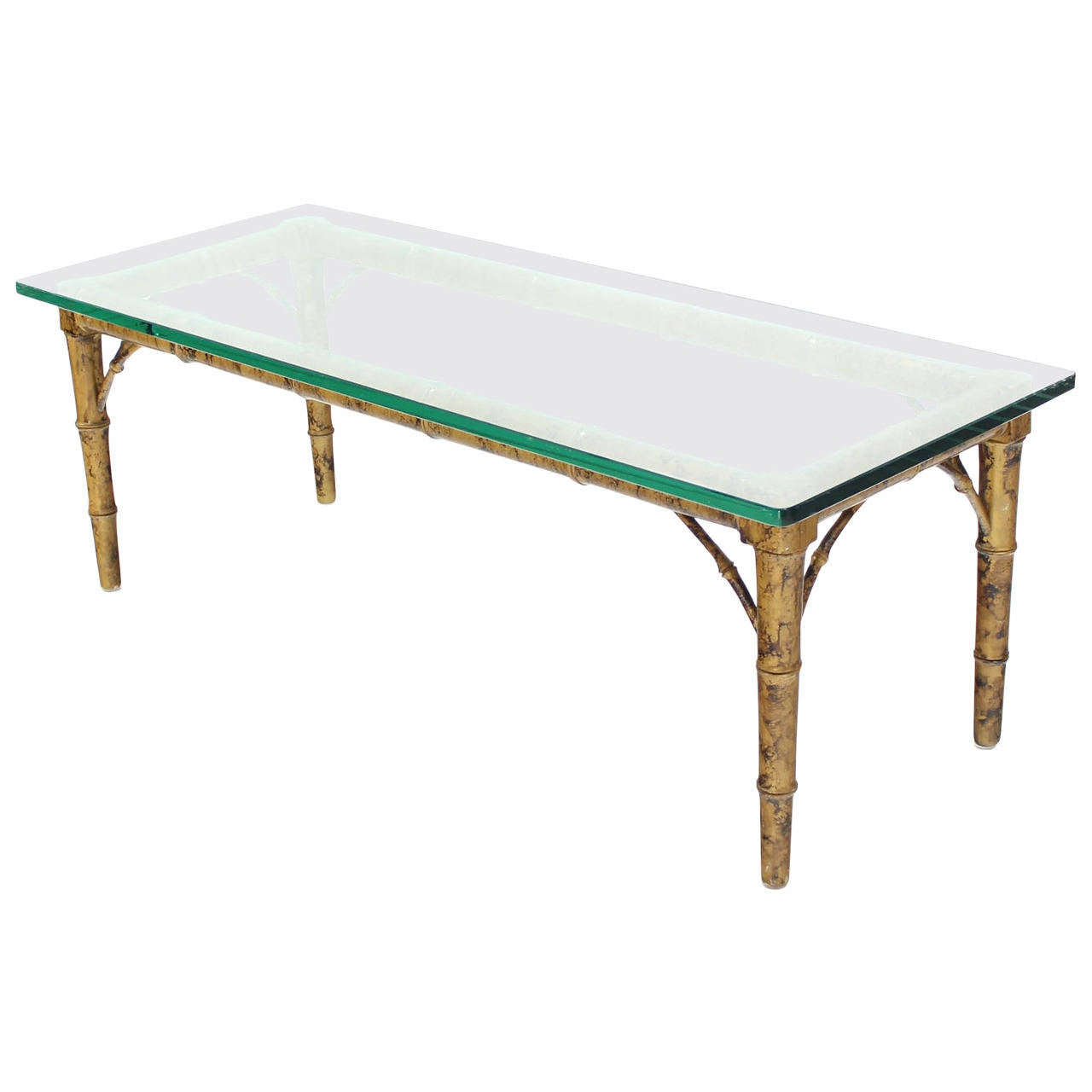 lacquered wood faux bamboo with glass top rectangular coffee table end for diy drawer blue zoo orlando asrock vsta drivers circa ethan allen furniture round patio side aluminum