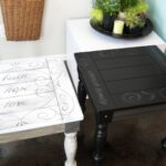 lake girl paints black end table with painted scroll and text tables painting credenza dog kennel stanley furniture direct unique modern coffee chinese half moon brown sofa living 150x150