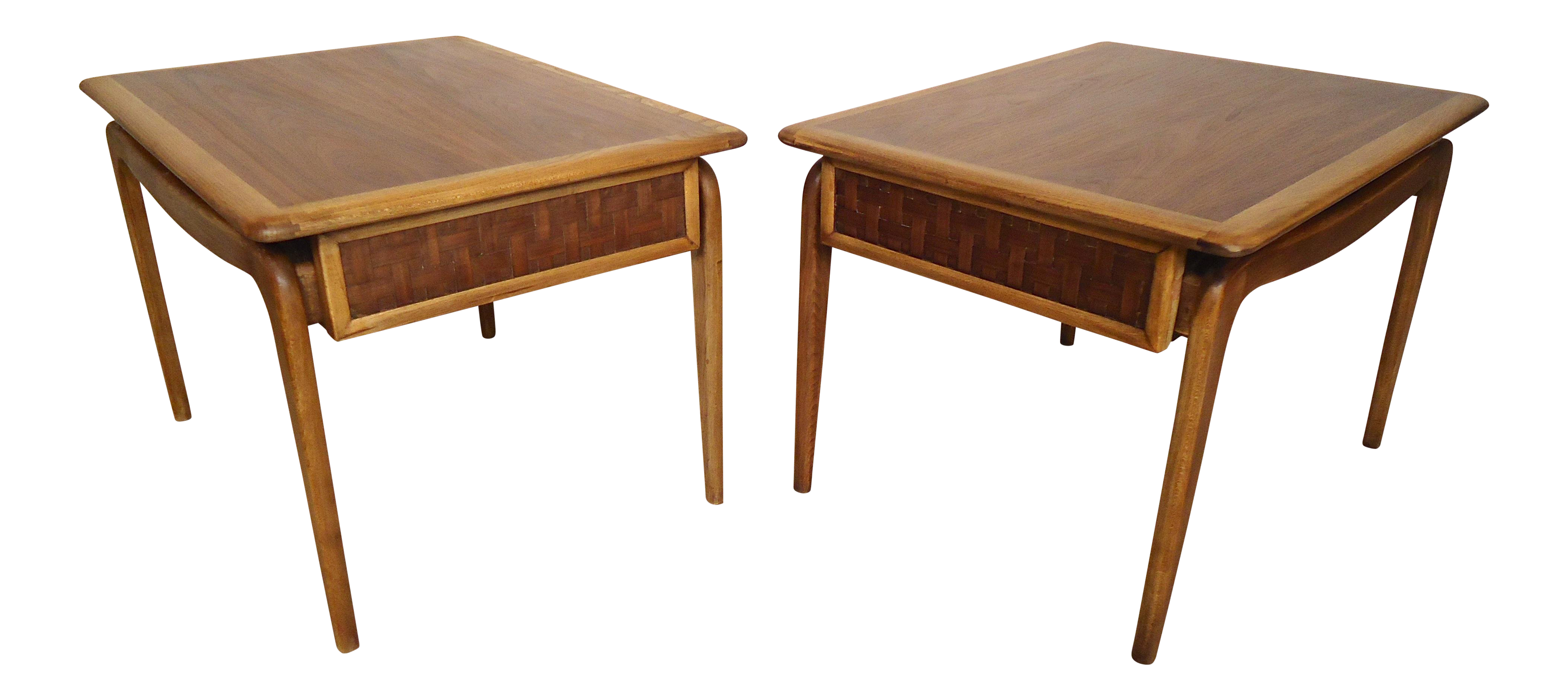 lane mid century end tables pair chairish table with drawer french country furniture direct wire outdoor chairs malden elephant statue matching coffee and small living room