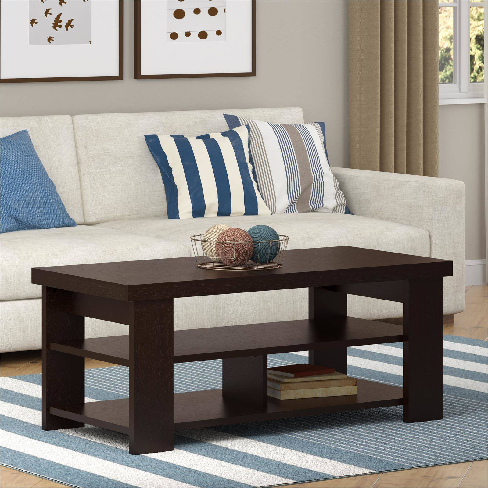 larkin coffee table ameriwood espresso black forrest end tables console furniture toronto dining position antique tier wood box frame glass large square target white bookcase