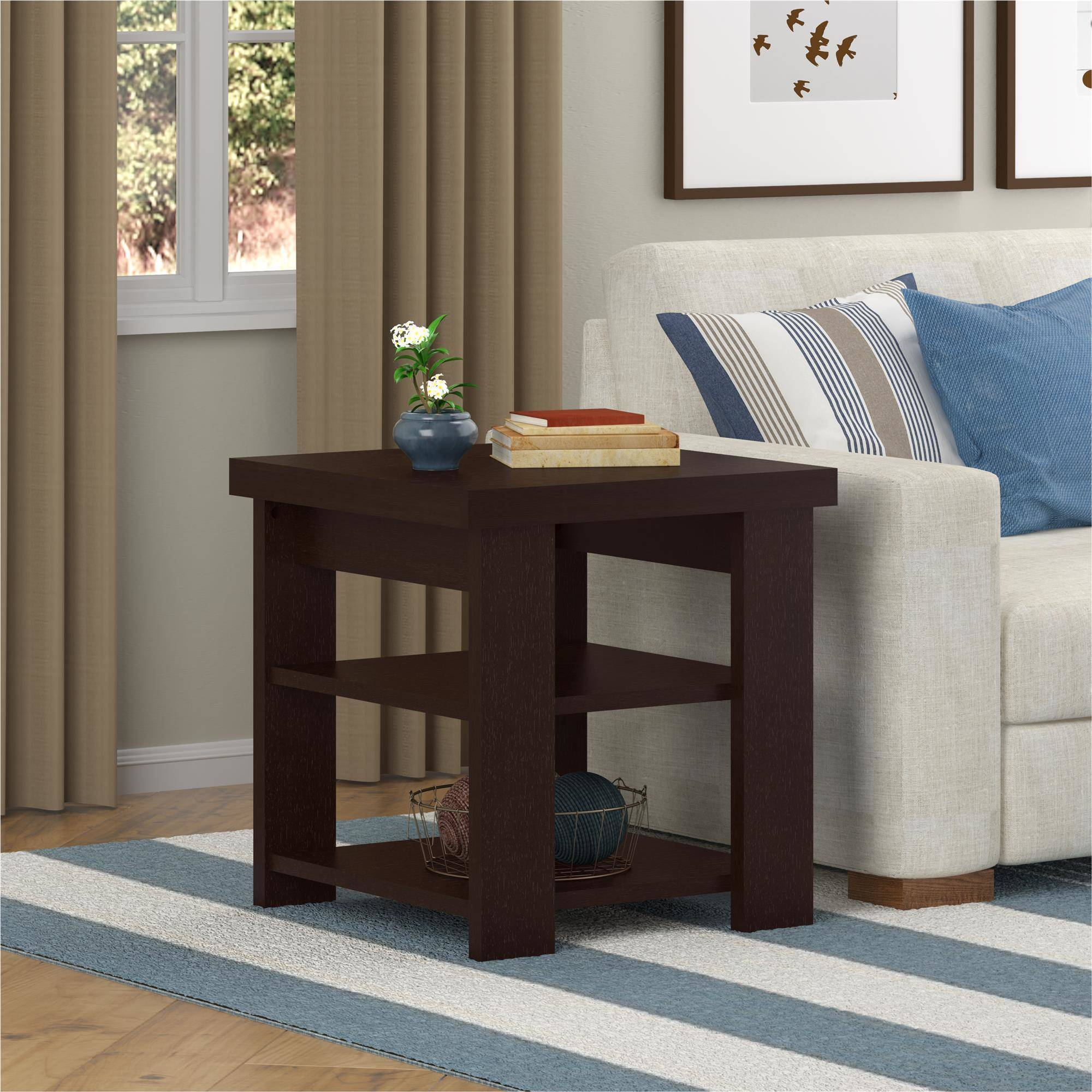 larkin espresso end tables value bundle small mid century table narrow glass console macys furniture bedroom sets industrial pallet magnolia house line ethan allen vanity set