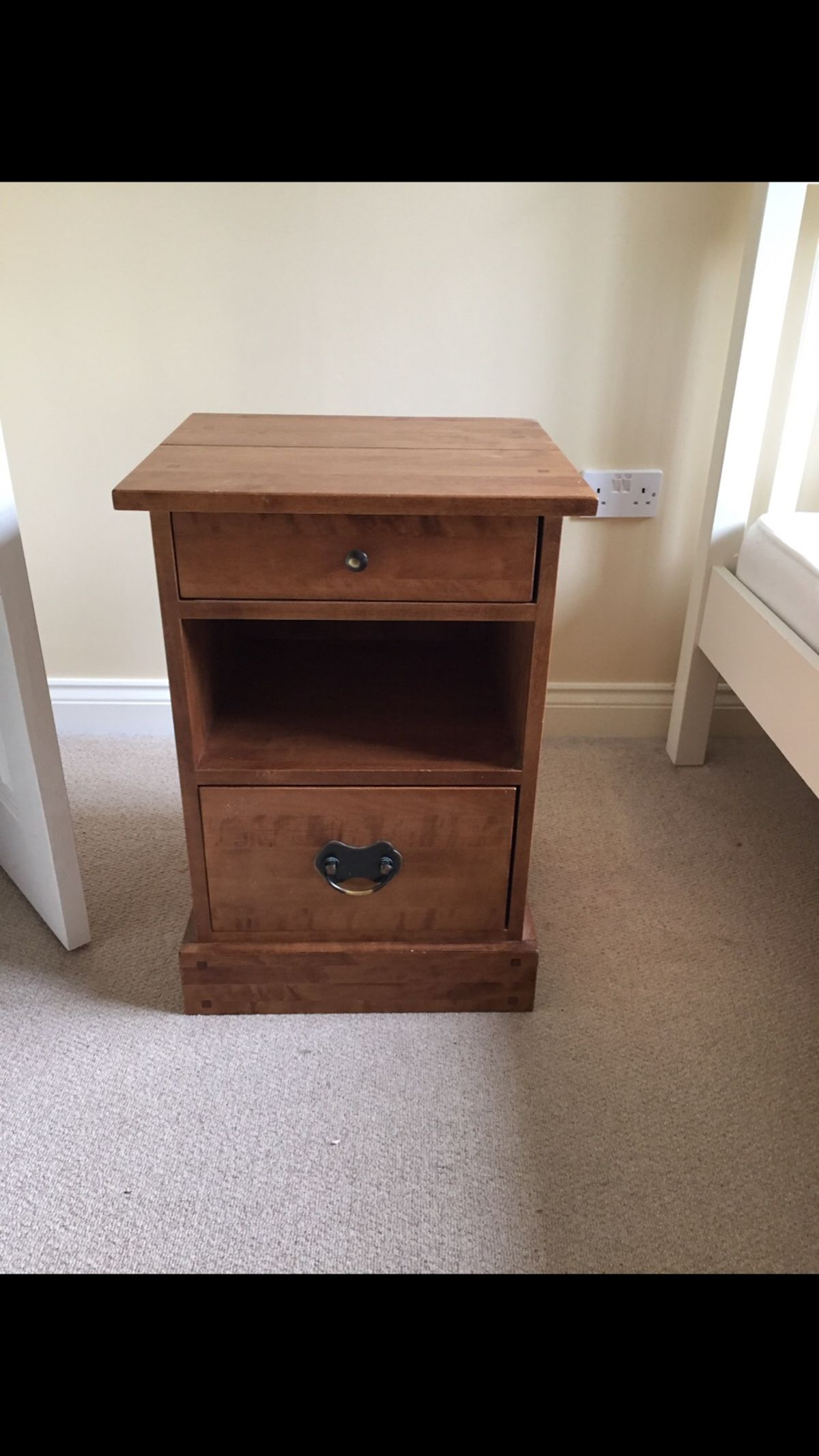 laura ashley side table kettering for shpock end tables description wooden house oak and sofas sofa middle gray wood nightstand diy coffee base hampton bay patio cushions round