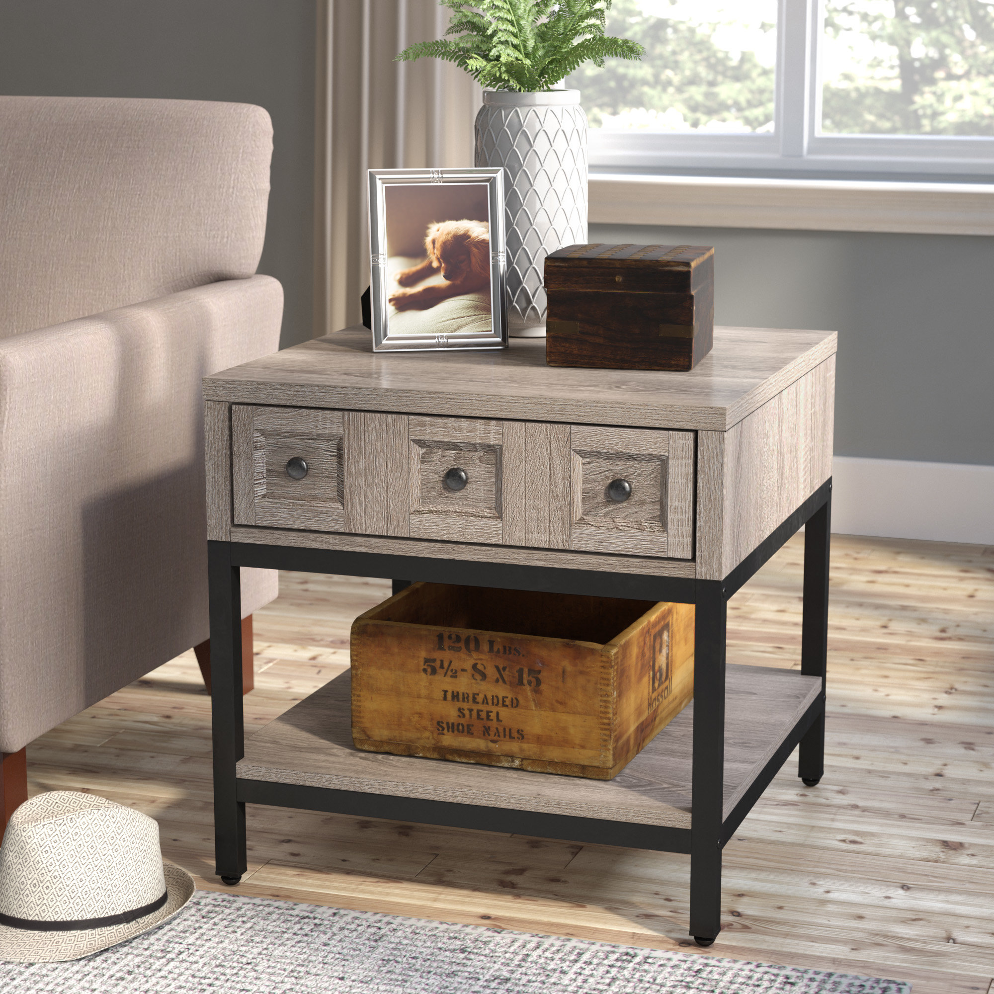 laurel foundry modern farmhouse omar end table with storage tables furniture reviews shade floor lamp craigslist dining antique primitive ashley queen set log living room paint