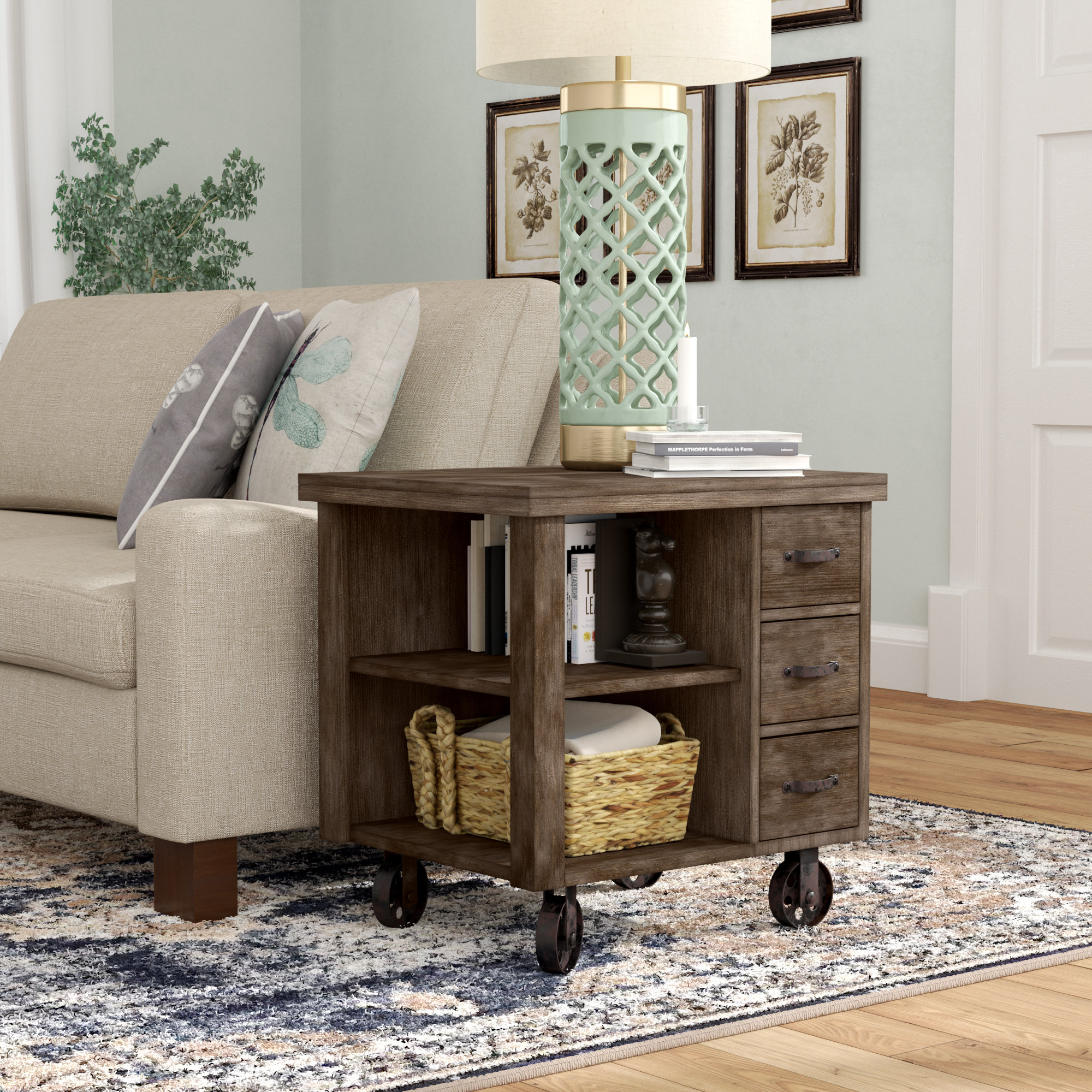 laurel foundry modern farmhouse remy end table with storage tables reviews glass front miami dolphins tailgate gear bedside alternatives weather dog beds made from mor furniture