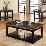 lawndale black solid wood faux marble top table coffee and end tables categories white metal outdoor side box frame nesting ethan allen early american hutch round pedestal bedside 150x150