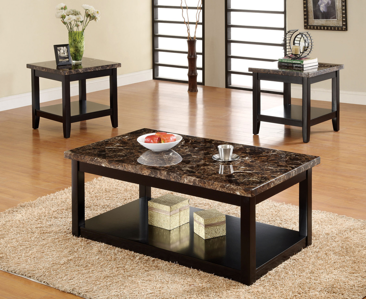 lawndale black solid wood faux marble top table coffee end tables set full stanley furniture console dark gray nightstand jojo gaines italian bedroom sets making pallet andalusia