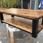 leg coffee table woody projects rustic farmhouse cool diy end tables pallet brown outdoor leather couch pillows black pipe designs ethan allen french country bedroom furniture 150x150