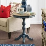 legends furniture laurel grove two tone accent pedestal table turk products color zlgv end tables tall behind couch shaped living room ideas raw wood dining nesting cocktail hot 150x150