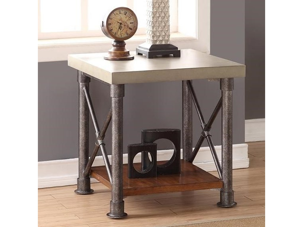 legends furniture steampunk collection zspk end table products color tables with shelf gill brothers diy elevated dog glass metal kitchen mainstays website italian dining and