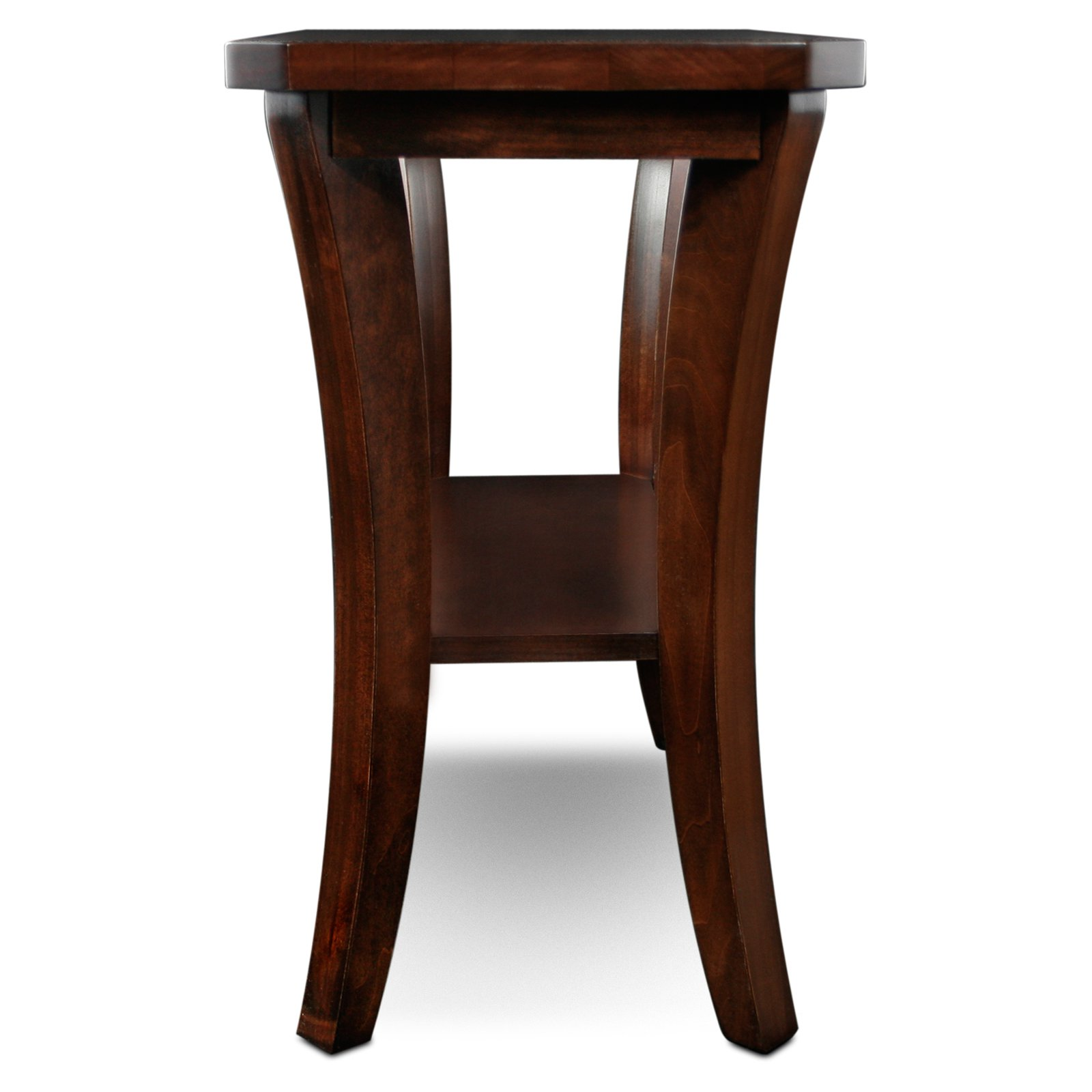 leick furniture boa collection solid wood narrow chairside end table tables stock amish chattanooga unique coffee ashley stone round green plastic garden gold marble side storage
