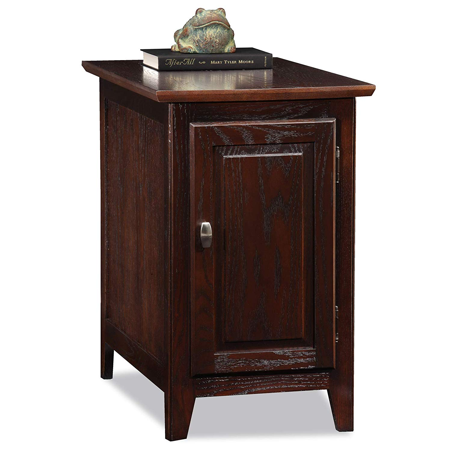 leick furniture cabinet storage end table chocolate oak tables kitchen dining unique solid wood coffee black iron pipe entertainment center pallet dolphin bases espresso target