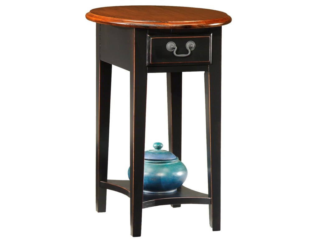 leick furniture favorite finds casual oval side table with drawer products color end tables and shelf antique nightstands drawers wood block pallet kitchen gold marble interdesign