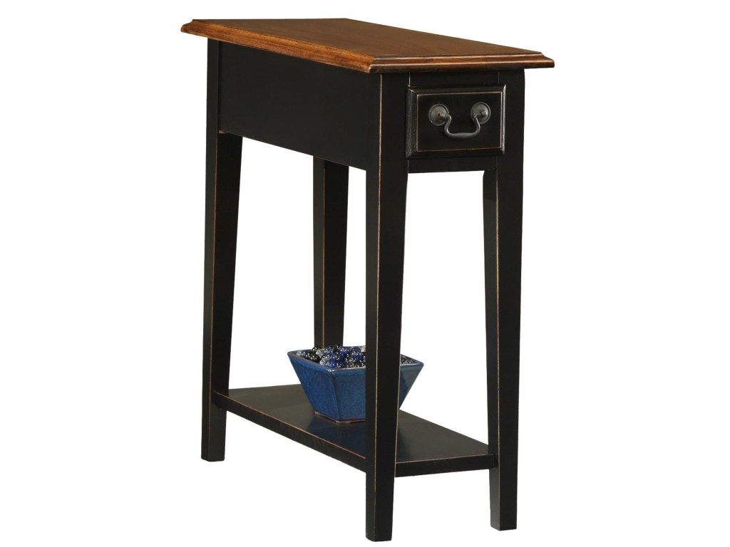 leick furniture favorite finds casual side table with drawer and products color end tables display shelf craigslist skinny white wood coffee metal legs black round storage luxury