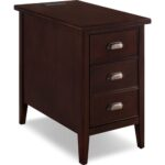leick laurent cabinet end table drawer door plug with and chocolate cherry quality furniture houston french home accessories kmart tools cocktail marble top big lots wall art the 150x150
