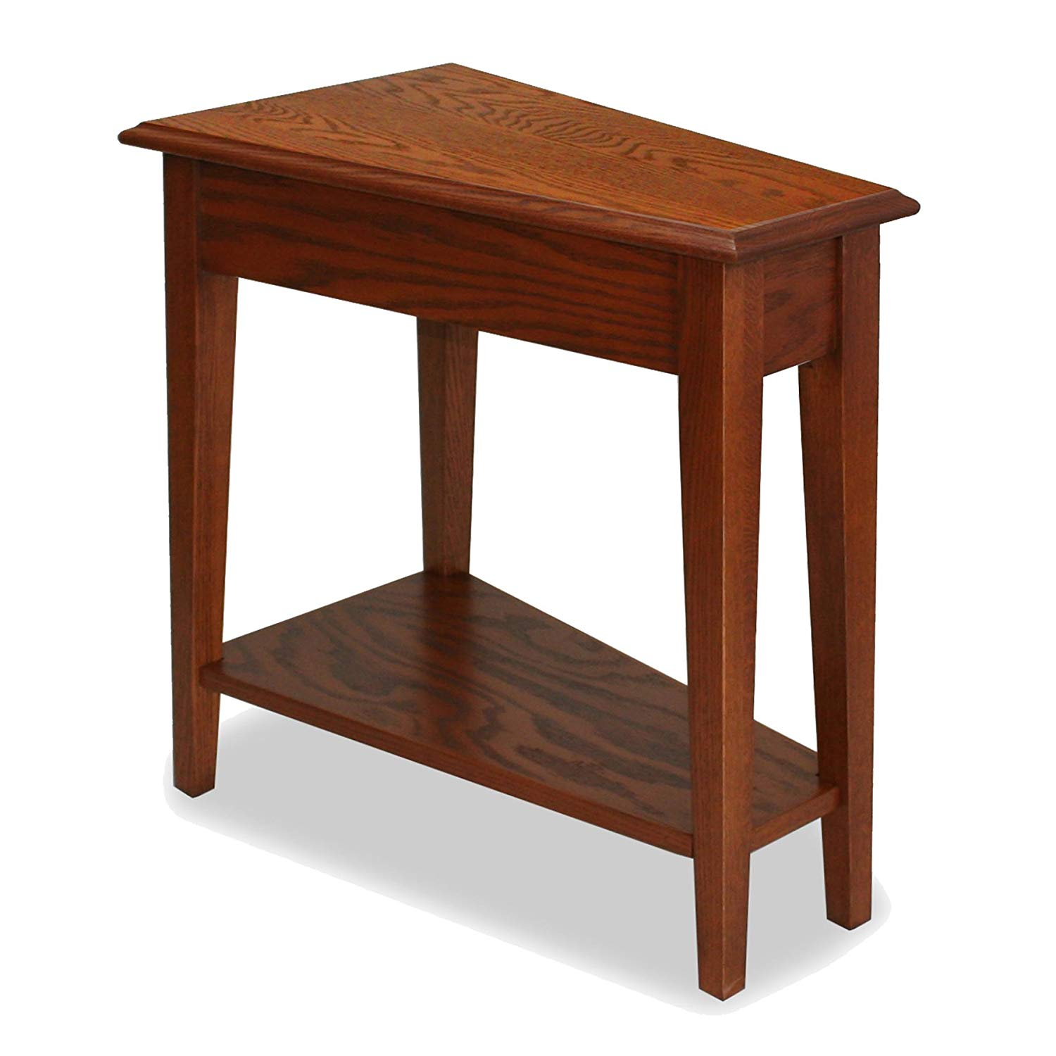 leick recliner wedge end table medium oak kitchen dining xukflsl espresso finish ashley kellum coffee couch calgary italian marble replacement glass for patio bar metal sets big
