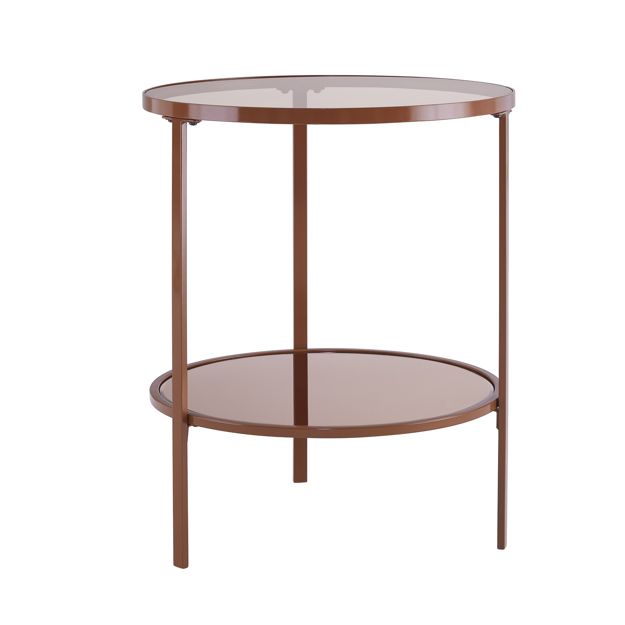 lenae glass side table brown aiden lane products stained end tables black real leather sofa liberty furniture ocean isle collection ashley living room ethan allen american
