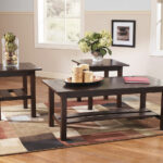lewis medium brown occasional table set furniture land altra coffee and end tables piece etched glass gray wash homesense throws console ethan allen rugs distressed paint effects 150x150