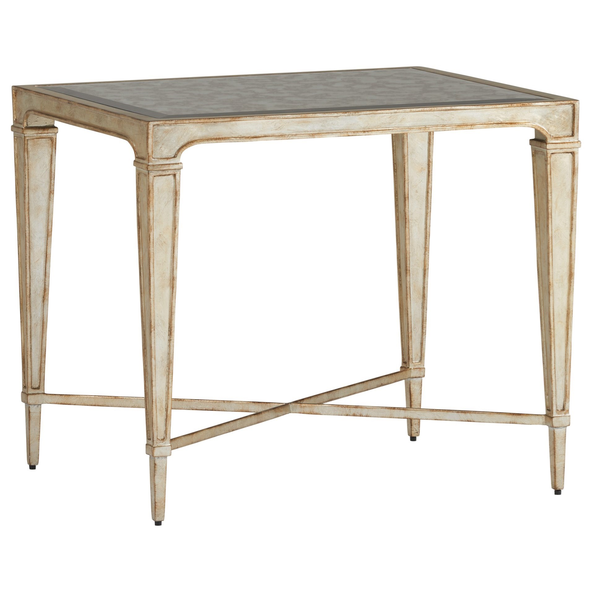 lexington carlyle pierre silver leaf end table with antiqued products color furniture tables ethan allen burlington gately pallet furn contemporary lamps outdoor covers kmart inch