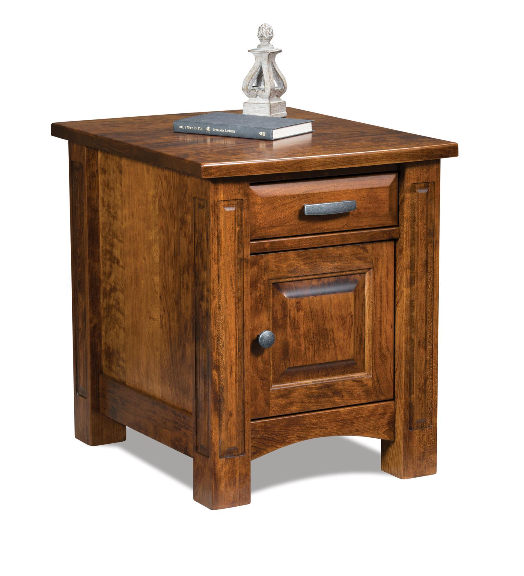 lexington enclosed end table with one drawer and door from amish furniture tables glass dining metal legs old pallet ideas martin wood small round marble coffee mirror night cute