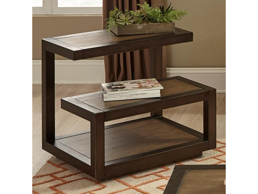 liberty furniture bennett point mid century modern end table products color occ tables bedside units kmart dining set dog crates for less round glass and chrome mirrored bedroom