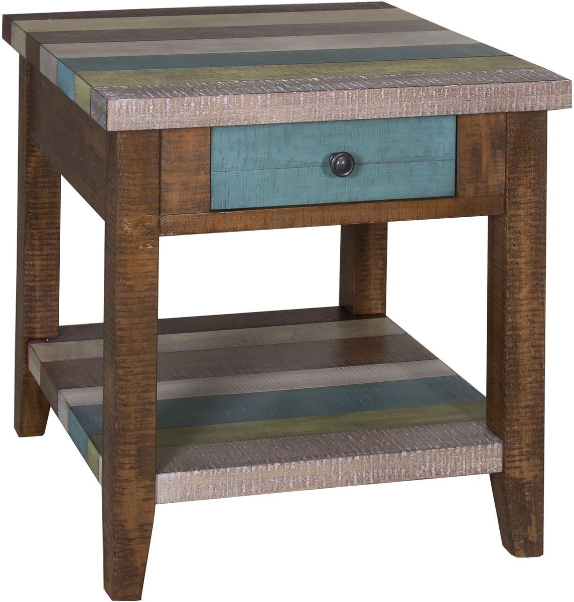 liberty furniture boho loft end table rustic brown tables farm style bar height legs designer nightstands matching side contemporary riverside sierra round coffee color rug with