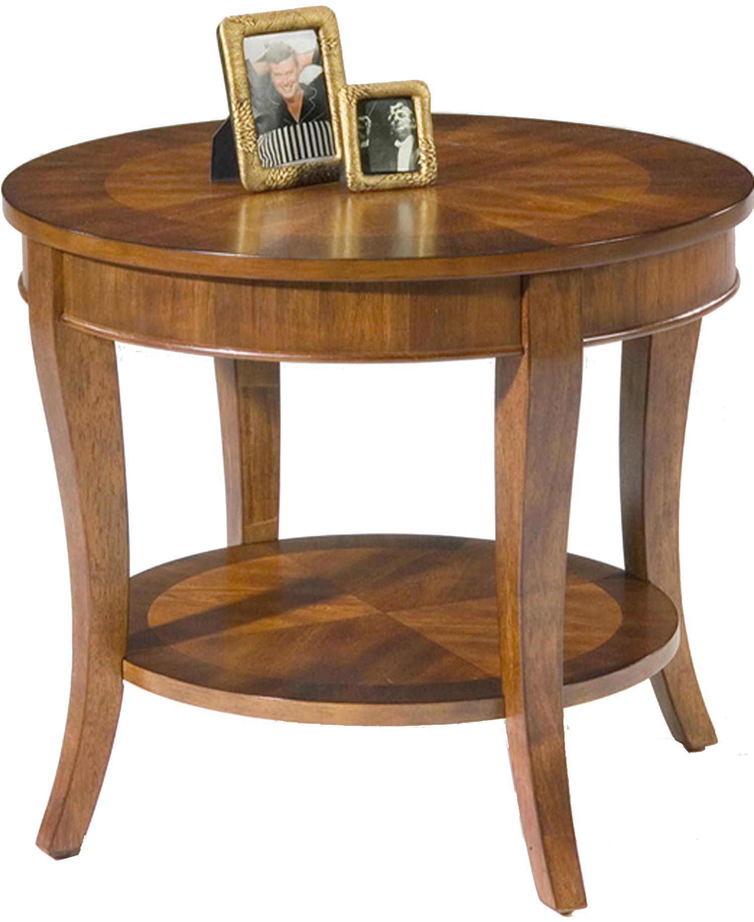 liberty furniture bradshaw round end table with shelf products color cherry mirror tables drawers small painted coffee farm style expensive dining dark wood black glass top set