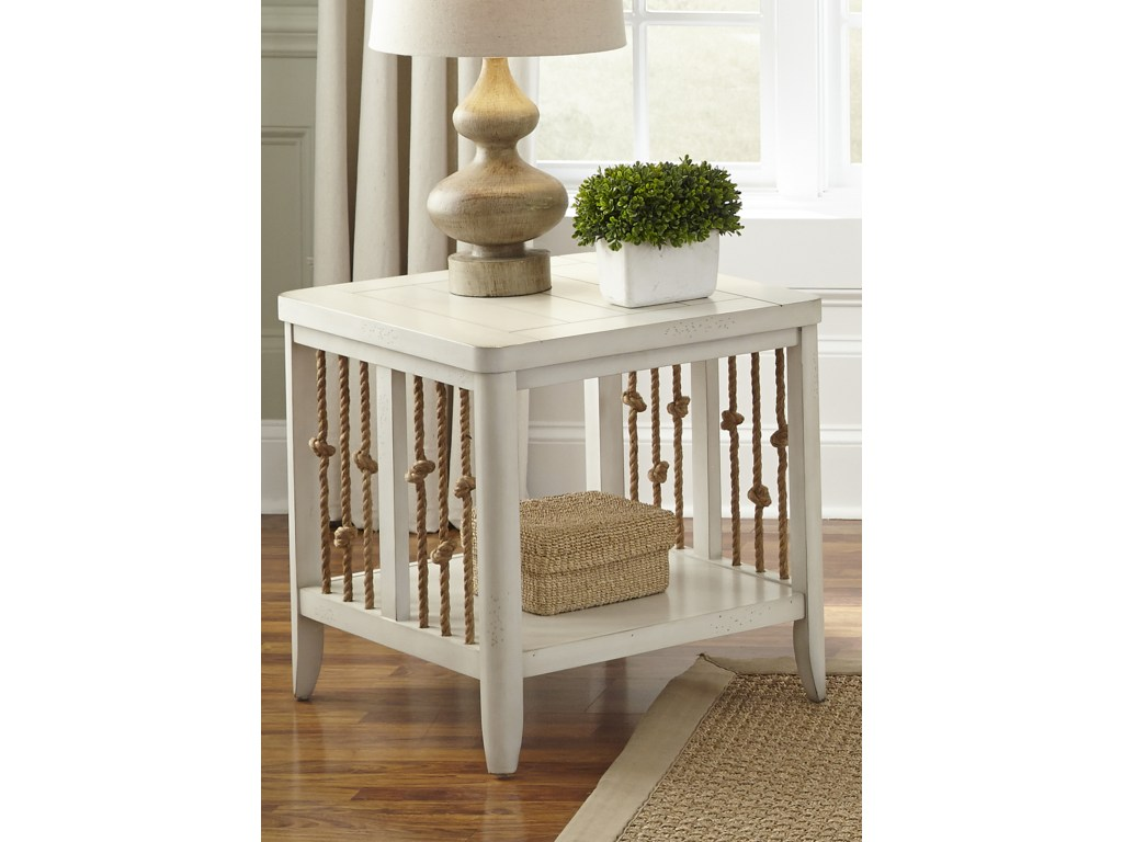 liberty furniture dockside coastal end table with rope products color tables accents lucite sofa riverside coventry bedroom collection gray and brown living room lazy boy side