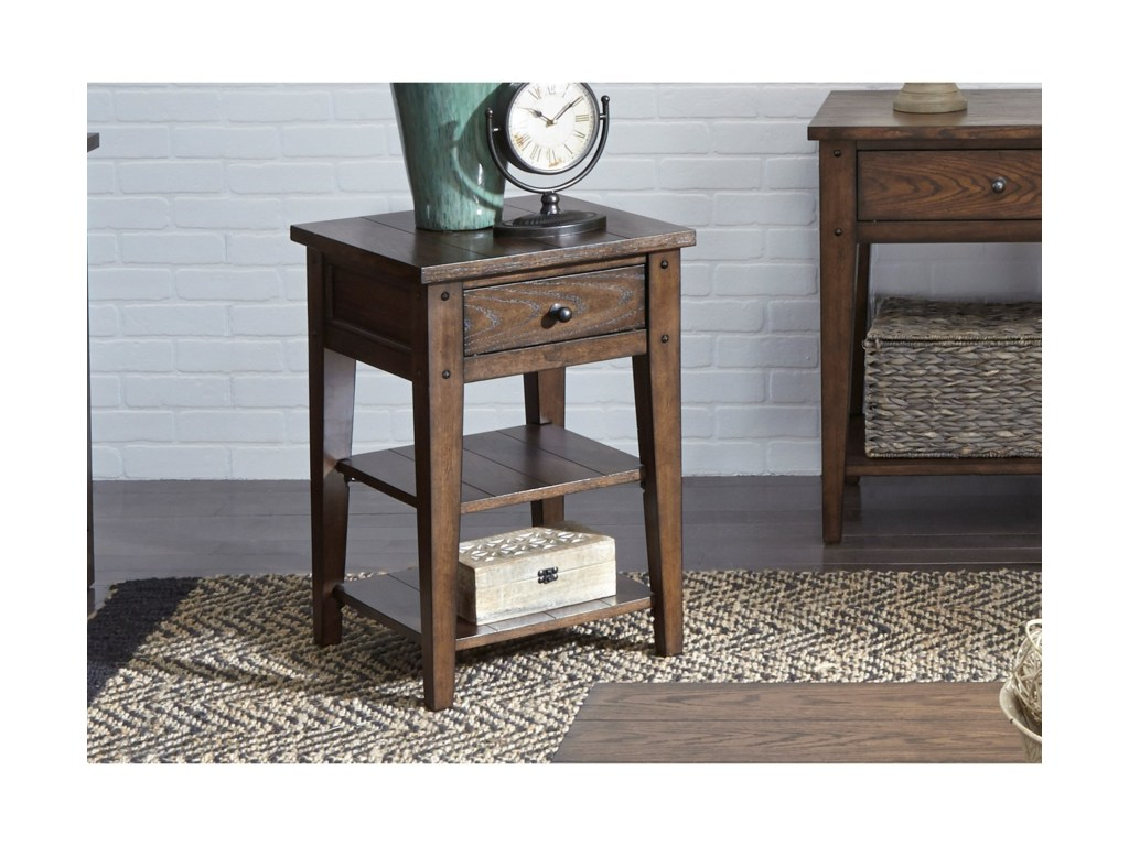 liberty furniture lake house occasional end table miskelly products color tables dark brown wood coffee what colour curtains with sofa made from skids row san antonio stanley