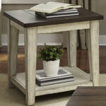 liberty furniture lancaster rustic end table with light distressing products color occasional tables laura ashley throws small round gold powell mirrored console designer accent 150x150