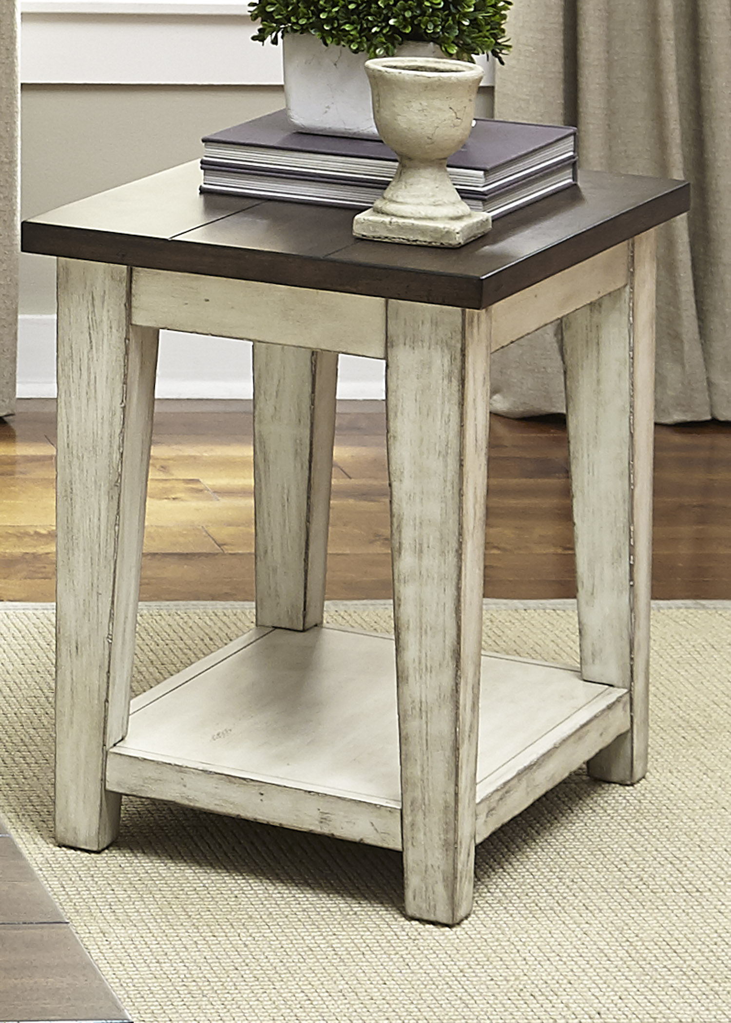 liberty furniture lancaster rustic end table with light products color occasional tables farm style unfinished mirrors ashley porter nightstand build out pallets bar height legs